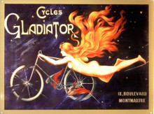 GLADIATOR CYCLES ENAMEL SIGN RICH COLORS AND EXCEPTIONAL GRAPHICS