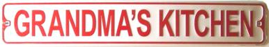 GRANDMA'S KITCHEN SMALL STREET SIGN