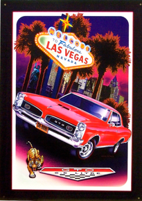 PONTIAC GTO LAS VEGAS SIGN GREAT COLORS AND EXCELLENT DETAILS