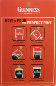 GUINNESS BEER SIGN, HOW TO POUR A GUINESS…WHO NEEDS DIRECTIONS?