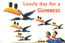 GUINNESS LOVELY DAY BEER SIGN, WITH A FLOCK OF TUCANS