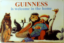 GUINNESS ZOO BEER SIGN, VERY NICE DETAILS, GREAT COLOR
