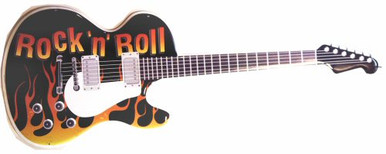 GUITAR ROCK DIE-CUT GUITAR SHAPED SIGN