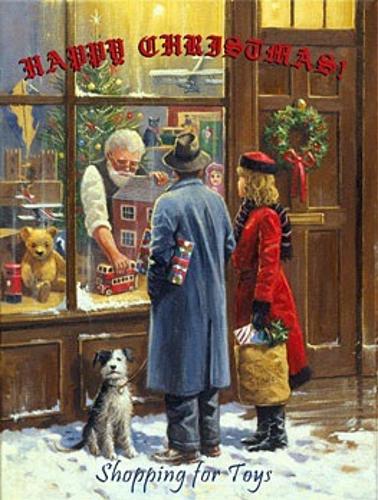 HAPPY CHRISTMAS VILLAGE ENAMEL SIGN, DEEP RICH COLORS, EXCEPTIONAL DETAIL