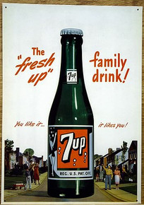Photo of 7-UP SIGN FROM THE PAST, GREAT COLOR AND DETAIL FOR ANY 7UP FAN