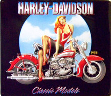 HARLEY CLASSIC MODELS BABE EMBOSSED MOTORCYCLE SIGN, VERY NICE EMBOSSING DETAILS AND COLORS