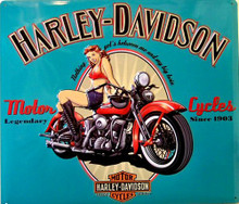 HARLEY LEGENDARY BABE (EMBOSSED) MOTORCYCLE SIGN