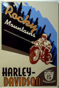 HARLEY ROCKY MOUNTAIN MOTORCYCLE SIGN