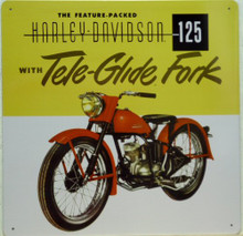 HARLEY  TELE-GLIDE 125  MOTORCYCLE SIGN