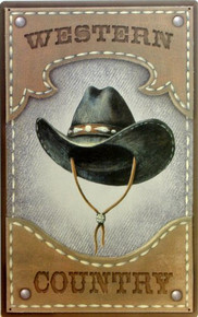 HAT, COWBOY SIGN