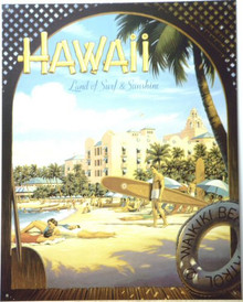 HAWAII - WAIKIKI BEACH SIGN