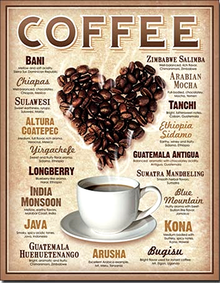 HEART COFFEE AROUND THE WORLD SIGN
