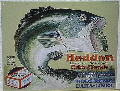 HEDDON FROGS SIGN