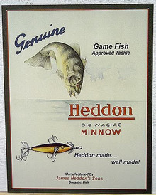 HEDDON MINNOW SIGN