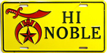HIGH NOBEL SHRINE LICENSE PLATE