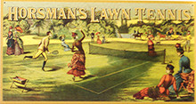 HORSMAN'S LAWN TENNIS SIGN