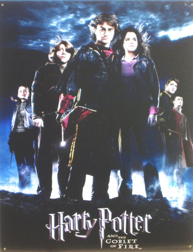 "H. POTTER GOBLET of FIRE MOVIE SIGN Sign Size: 12 1/2"" w X 16"" h With Pre-drilled Hole(s) for easy hanging Material: Metal  VERY LIMITED SUPPLY..OUT OF PRINT"