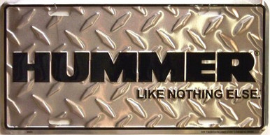 HUMMER DIAMOND PLATE LICENSE PLATE