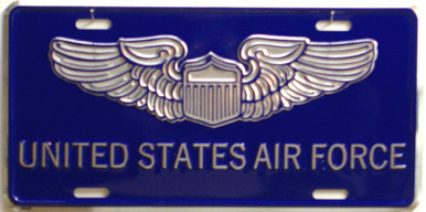 Photo of AIR FORCE (OLD STYLE) LICENSE PLATE, FOR CAR, TRUCK OR WALL