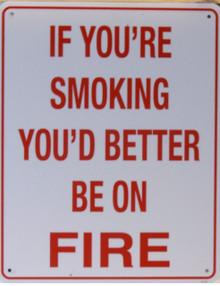 ANOTHER WAY OF SAYING NO SMOKING?