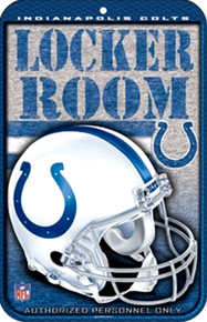 INDIANAPOLIS COLTS FOOTBALL SIGN