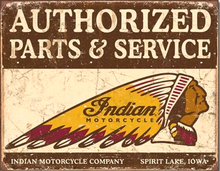 INDIAN AUTHORIZED PARTS & SERVICE MOTORCYCLE SIGN