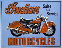 INDIAN SALES AND SERVICE MOTORCYCLE SIGN