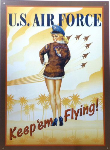 Photo of AIR FORCE POSTER GIRL NOSTALGIC AIRMEN POSTER SIGN