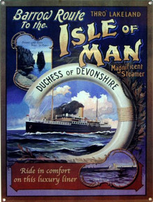 ISLE OF MAN ENAMEL SIGN