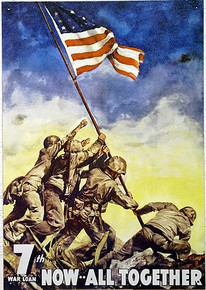 IWO JIMA WAR BONDS MARINE SIGN