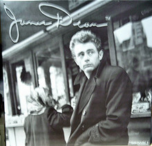 JAMES DEAN IN COAT SIGN