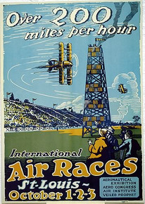 Photo of AIR RACES, OLD TIME AIR RACE POSTER SIGN