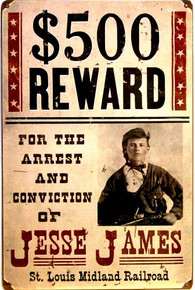 JESSIE JAMES WANTED POSTER  (sublimation process) SIGN