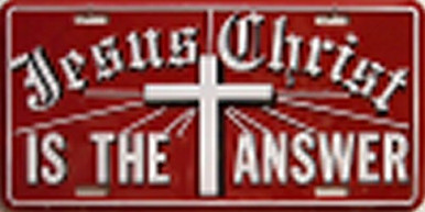 JESUS IS THE ANSWER LICENSE PLATE