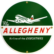 Photo of ALLEGHENY AIRLINES PORCELAIN SIGN, GREAT COLOR AND ATTENTION TO DETAIL