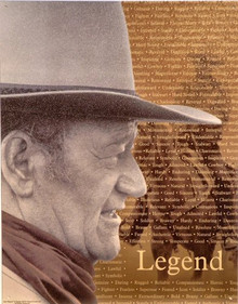 JOHN WAYNE  LEGEND MOVIE SIGN