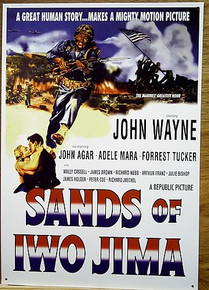 JOHN  WAYNE SANDS OF IWO JIMA MOVIE POSTER SIGN