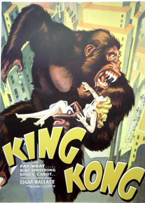 KING KONG MOVIE POSTER SIGN