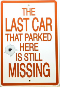 LAST CAR (SMALL) PORCELIN SIGN