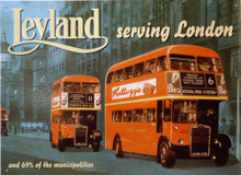 LELAND DOUBLE DECKER BUS SIGN