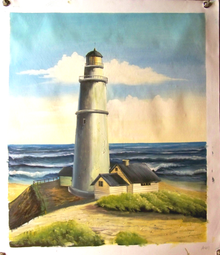 LIGHT HOUSE OIL PAINTING