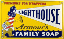 LIGHT HOUSE SOAP PORCELAIN SIGN
