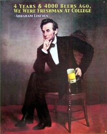 LINCOLN W/BEER SIGN