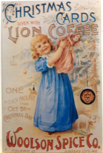 LION COFFEE CHRISTMAS SIGN