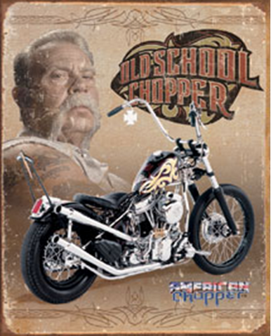 AMERICAN CHOPPER OLD SCHOOL MOTORCYCLE SIGN, FOR THE MOTORCYCLE LOVER IN ALL OF US