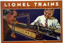 LIONEL 1934 MODEL TRAIN SIGN