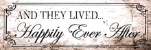 LIVED HAPPILY EVER AFTER ENAMEL SIGN
