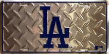 LOS ANGELES DODGERS BASEBALL DIAMOND PLATE LICENSE PLATE