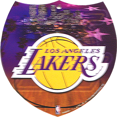 LOS ANGELES LAKERS BASKETBALL SMALL INTERSTATE SIGN