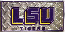 LSU TIGERS COLLEGE LICENSE PLATE